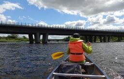 Kanotur: Motorvejsbroen ved Silkeborg